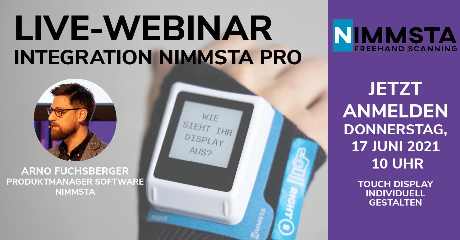 NIMMSTA Einladung zum Webinar