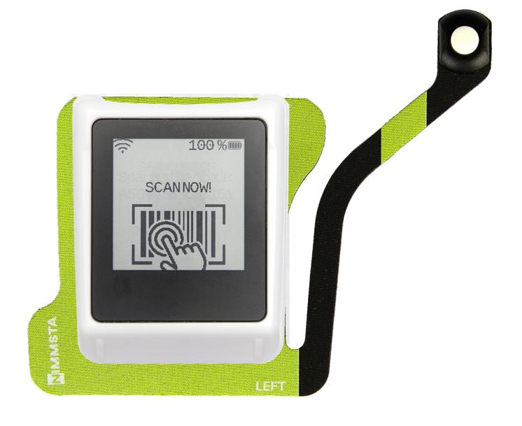 Nimmsta Handrückenscanner mit Triggerpad links