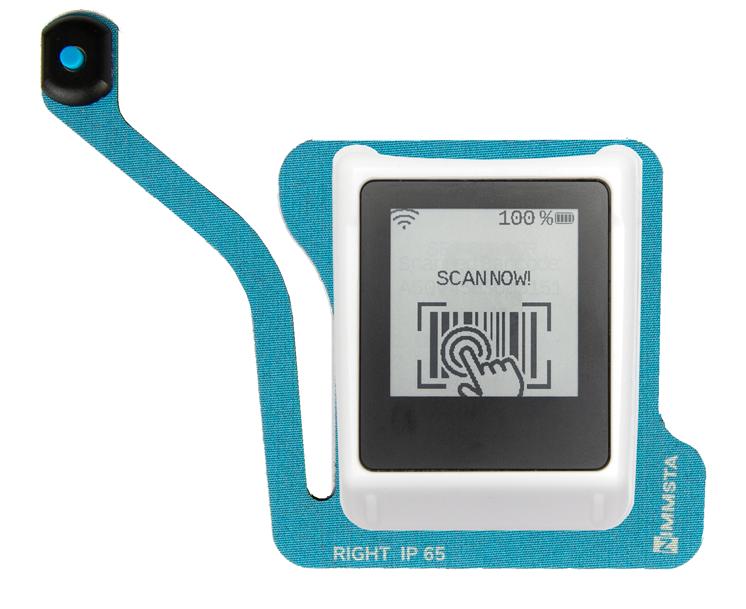 Nimmsta Handrückenscanner mit Triggerpad rechts IP65